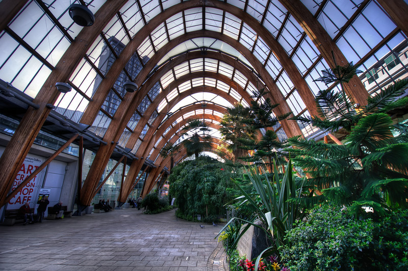 Sheffield-Winter-Gardens-Millennium-Gallery-Vitral-Rooflights-Internal-Towards-St-Pauls-Tower-and-the-Peace-Gardens-HDR-3-L